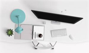 desk, computer, modern